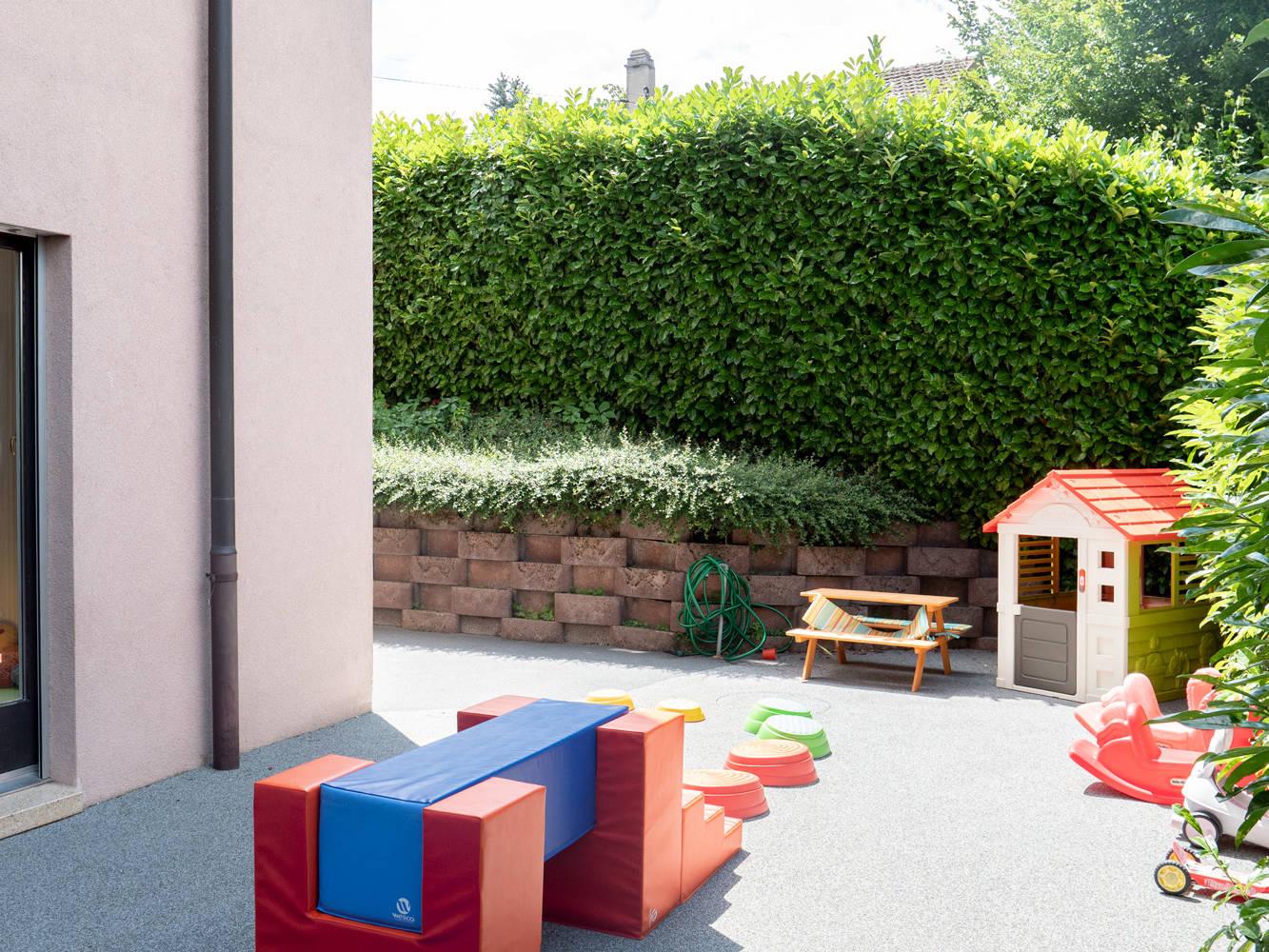 Photo des activités extérieures la crèche Kids unlimited à Commugny