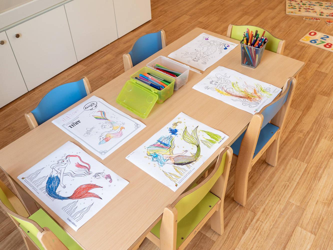 Photo des dessins des enfants la crèche Kids unlimited à Commugny à Terre Sainte